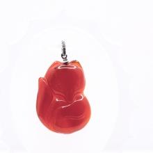 Mặt dây chuyền hồ ly mã não đỏ PDFAGA01 - Vietgemstones