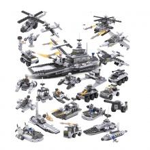 8 hộp đồ chơi lắp ráp 747 chi tiết Cogo cao cấp