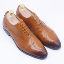 Giày nam công sở nâu vàng - KAZIN