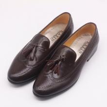 Giày nam cao cấp Loafer màu nâu mận - KAZIN