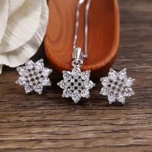 Bộ trang sức bạc Birtney Flowers