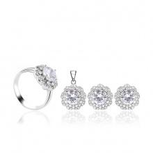 Bộ trang sức bạc Viviana Flower