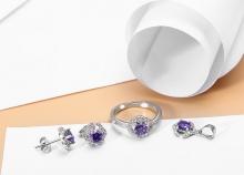 EROPI-Bộ trang sức bạc Purple Elegant