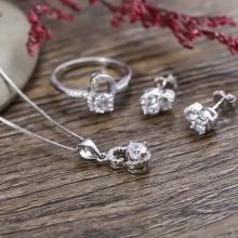 EROPI-Bộ trang sức bạc The Lucky Heart