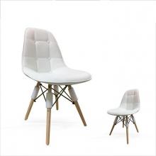 Ghế ngồi Eames E5 chân gỗ ( Trắng )