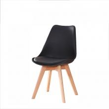 Kachi-Ghế ngồi Eames E9 chân gỗ ( Đen )