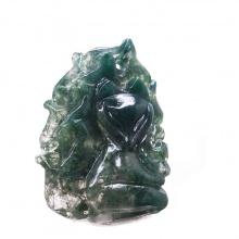 Mặt dây chuyền Hồ ly đá Chalcedony PDFCHA02 - VietGemstones