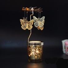 Chân đế nến tealight Eden Go Round Candle bươm bướm lớn tặng kèm 10 nến
