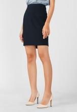 Váy nữ Papka công sở xẻ túi hông 4042-Xanh đen