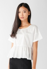 Áo nữ babydoll Papka croptop trắng  3040-Trắng