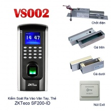 Hệ thống khóa cửa vân tay, thẻ kiêm chấm công VS002-SF200ID