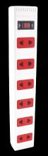 Ổ cắm Điện Quang ECO ĐQ ESK 2WR 62ECO (6 Lỗ 2 chấu, dây dài 2m, màu trắng đỏ)