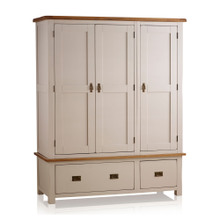 Tủ quần áo Sintra 3 cánh 2 ngăn kéo gỗ sồi 1m4 - Cozino