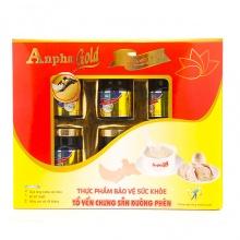 Tổ yến chưng sẵn 5% đường phèn Anpha Gold 6 hũ X 70g