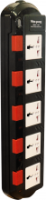 Ổ cắm Điện Quang ĐQ ESK 5B.SM750SL (5 lỗ 3 chấu dây 5 mét màu Đen Trắng Đỏ)