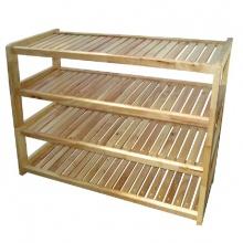 Kệ dép gỗ 4 tầng ngang 80cm (Tự nhiên).