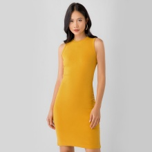 Đầm thun body Eden DT014 (vàng)