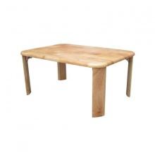 Bàn trà gỗ chân bánh mì 50x70 (Tự nhiên)
