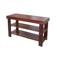 Kệ dép gỗ kết hợp ghế ngồi (Nâu).