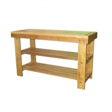 Kệ dép gỗ kết hợp ghế ngồi (Tự nhiên).