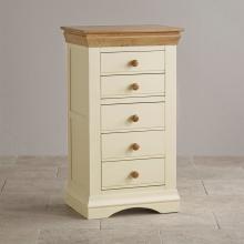 Tủ ngăn kéo đứng Canary 5 hộc gỗ sồi - Cozino