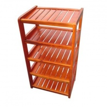Kệ dép gỗ 5 tầng ngang 45cm (Đỏ)