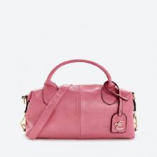 Túi xách tay thời trang  nữ Edison Michael da dê màu hồng 2256