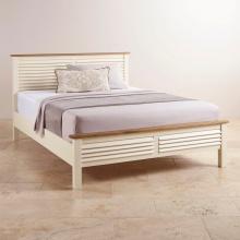 Giường đôi Chillon 100% gỗ sồi 2m2- Cozino
