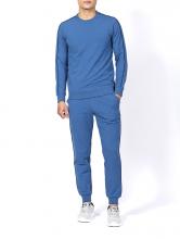 Bộ đồ dài tay ALH17-09 xanh blue phẩy xanh trắng