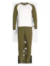 Bộ đồ dài tay ALH17-03 Xanh rêu phẩy đen