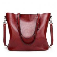 Túi xách tay nữ da bò size 32x29x12cm (Đỏ)