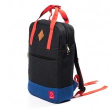 Balo canvas thời trang Glado GDP001 - Daypack Black  (màu đen phối xanh)