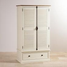 Tủ quần áo Chillon 2 cánh 1 ngăn kéo gỗ sồi 1m2- Cozino