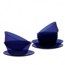 Bộ bàn ăn 9 món thủy tinh chịu lực Duralex Pháp lys saphir