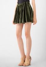 Chân váy ngắn nữ nhung Kassun rêu