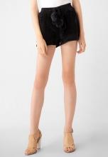 Quần shorts nữ nhung thắt dây kiểu Kassun