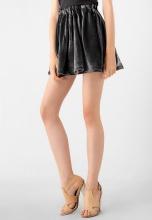 Chân váy ngắn nữ nhung Kassun xám