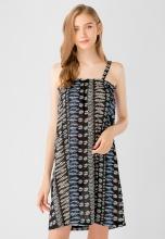 Đầm nữ 2 dây form chữ A Kassun đen
