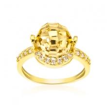 Nhẫn nữ trái châu đính đá
