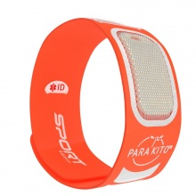 Viên chống muỗi PARA'KITO™ kèm vòng đeo tay thể thao cá tính màu cam (2 viên)