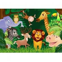 Tranh dán tường 3D vườn thú TB05