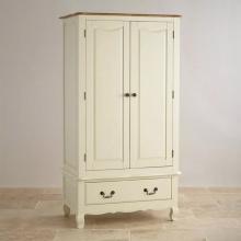 Tủ quần áo Skye 2 cánh 1 ngăn kéo gỗ sồi 1m4- COZINO