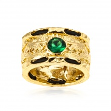 Nhẫn rồng vác hai hàng lông - xanh lá