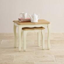 Bộ bàn xếp lồng Skye 100% gỗ sồi   - Cozino