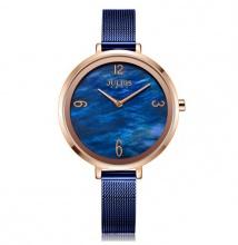 Đồng hồ nữ JA-1109D Juliusa Hàn Quốc dây thép - Xanh