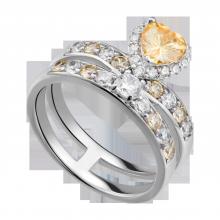 Nhẫn bạc đính đá màu vàng PNJSilver Retro Forest ZTXMK000077