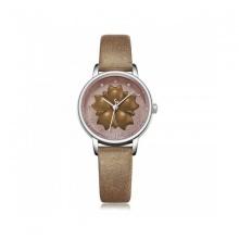 Đồng hồ dây da nữ Julius Hàn Quốc JA-1000A nâu