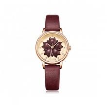 Đồng hồ nữ dây da Julius Hàn Quốc JA-1000D đỏ