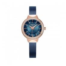 Đồng hồ nữ Julius Hàn Quốc dây thép JA-1043D xanh