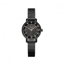 Đồng hồ nữ Julius Hàn Quốc dây thép JA-1063E đen